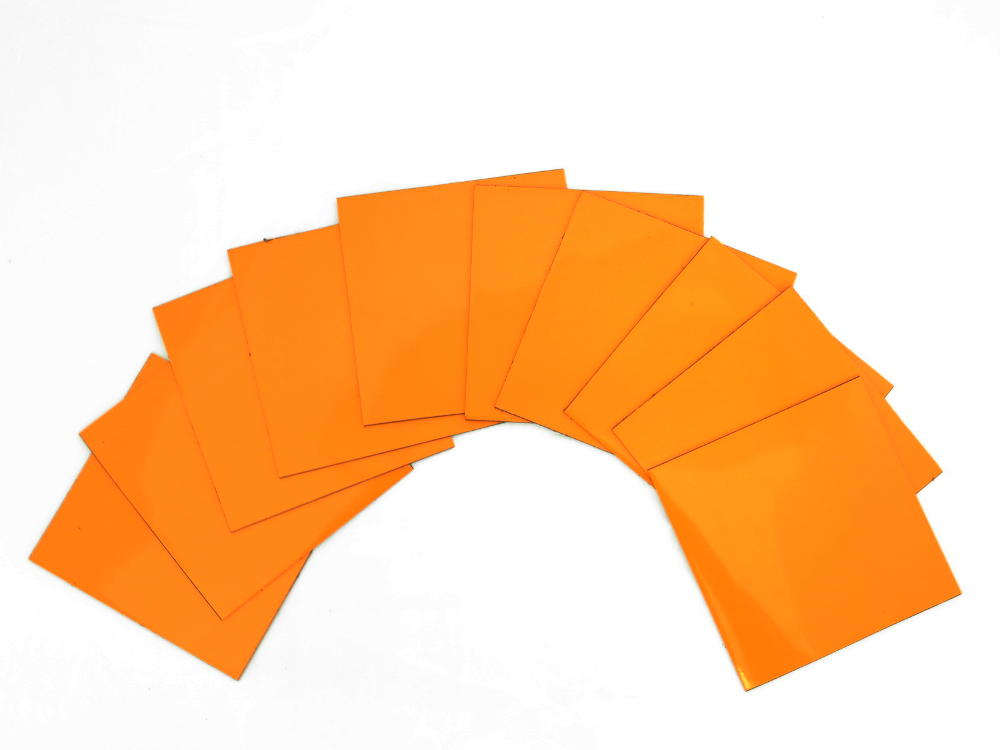 100mm Orange Square Flexible Magnets