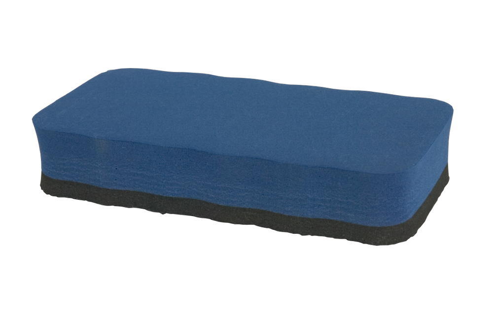 Wavy Foam Magnetic Eraser - Blue