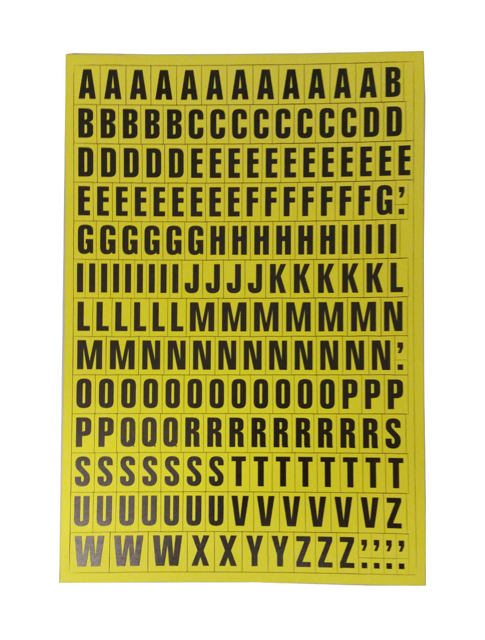 Magnetic Letters Yellow