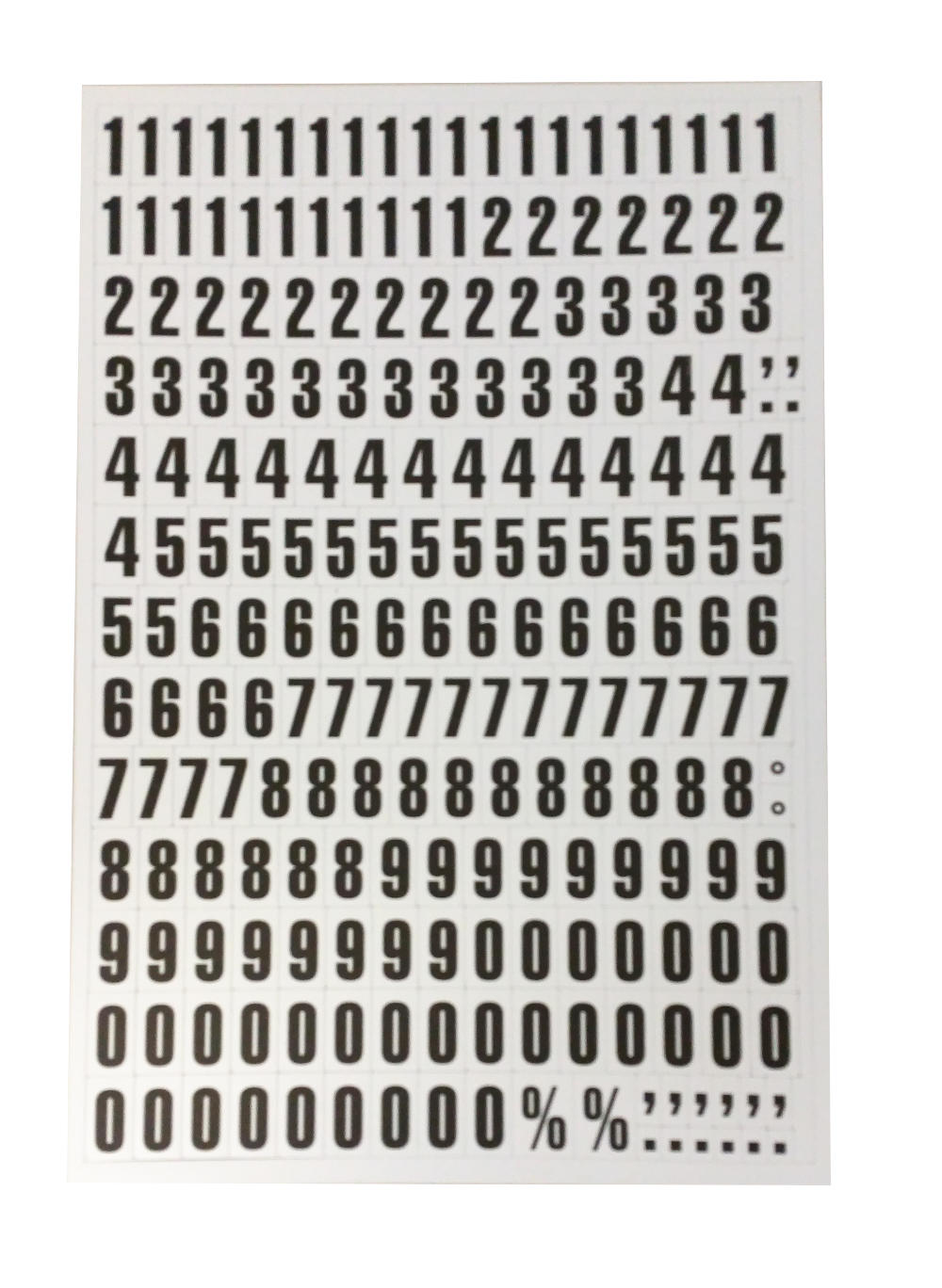 Magnetic Numbers White