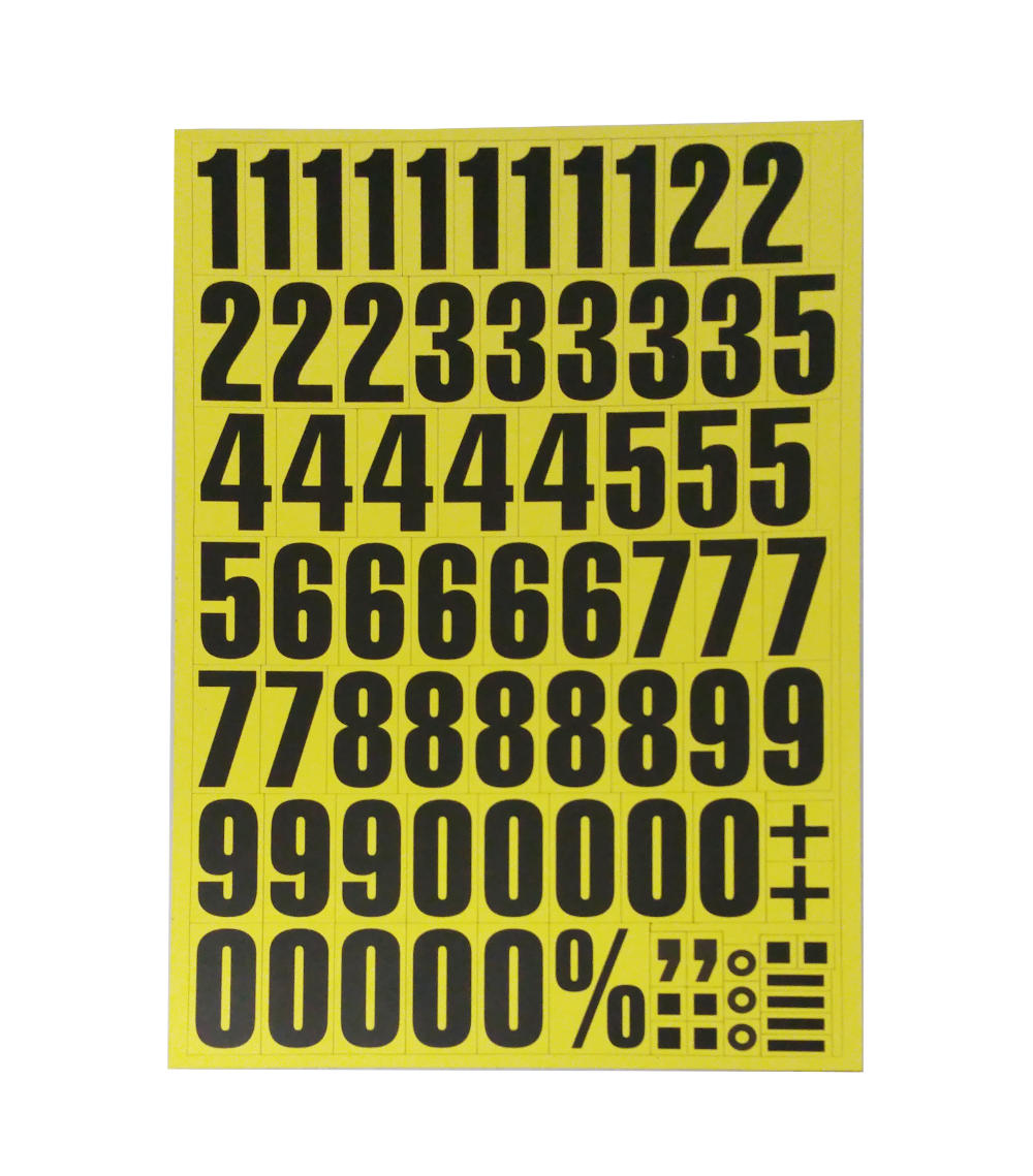 Magnetic Numbers Yellow